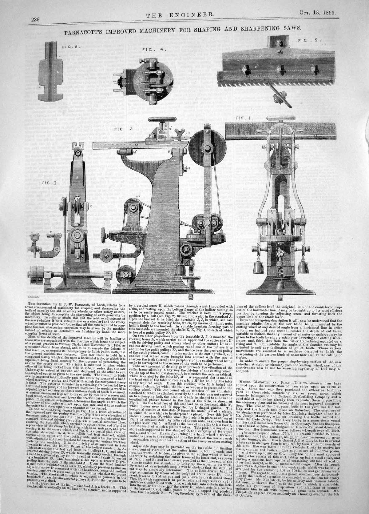 Old-Print-Parnacott-Leeds-Improved-Machinery-Shaping-Sharpening-Saws-1865-19th