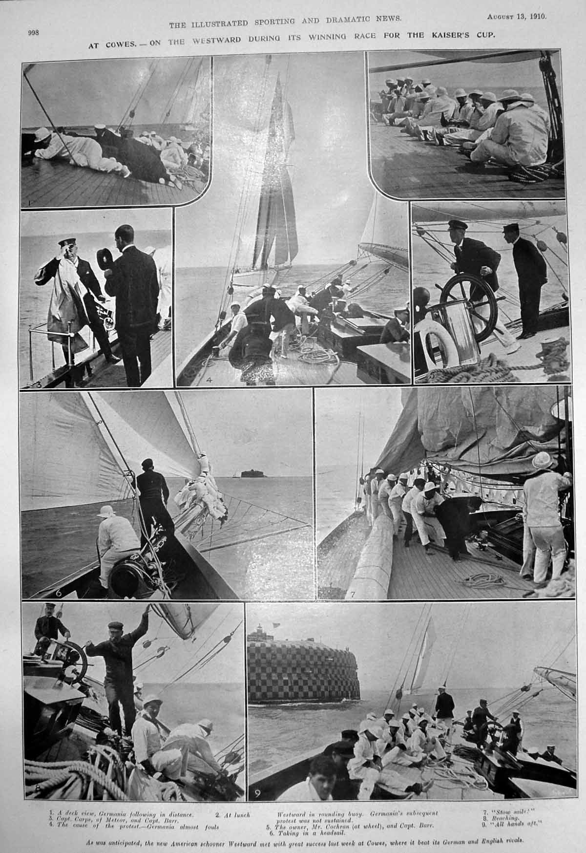 Old-Print-Cowes-Kaisers-Cup-Tring-Show-Horse-Hospital-Golfers-Ostend-1910-20th