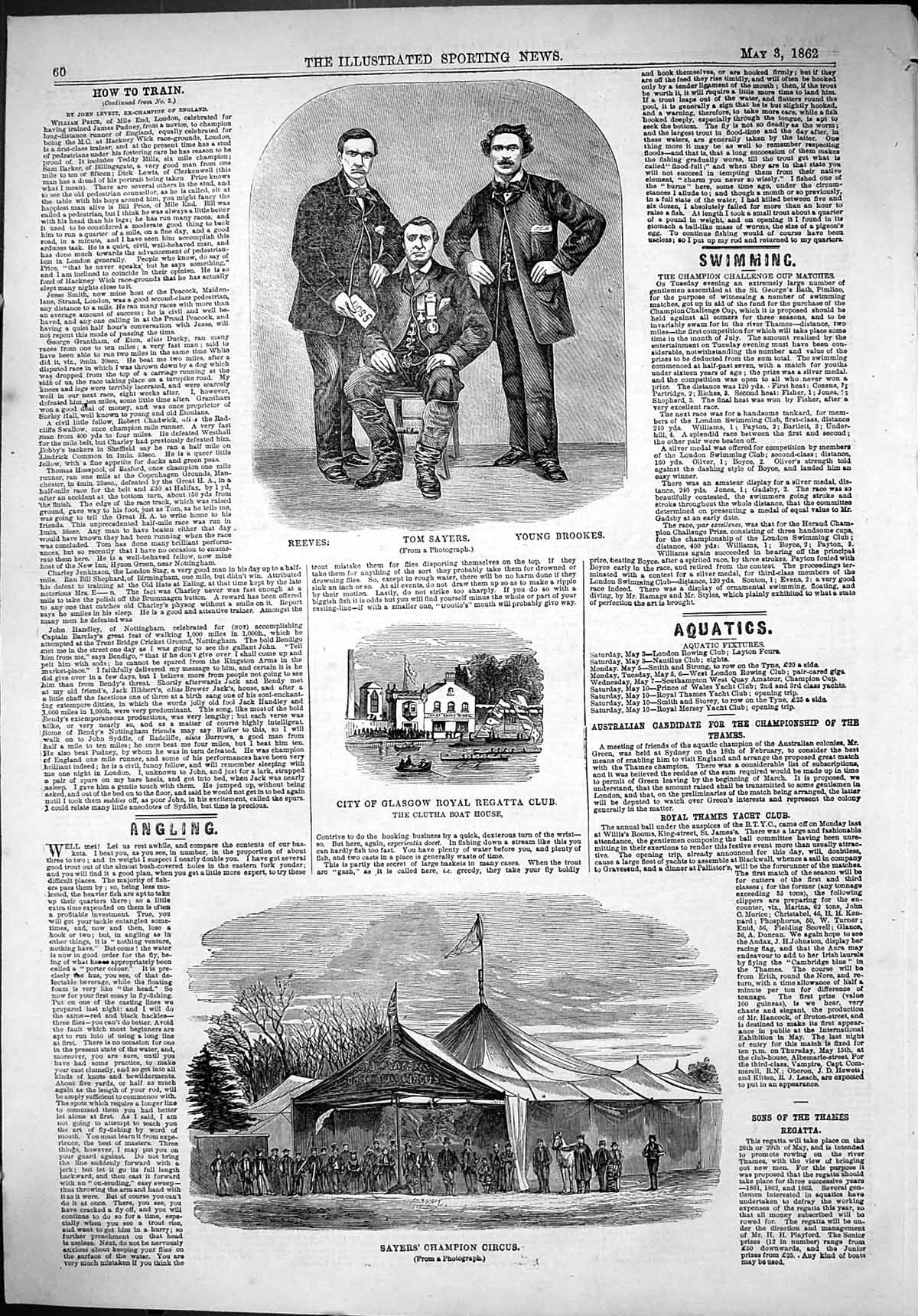 Old-1862-Reeves-Tom-Sayers-Brookes-Glasgow-Royal-Regatta-Clutha-Boat-Victorian