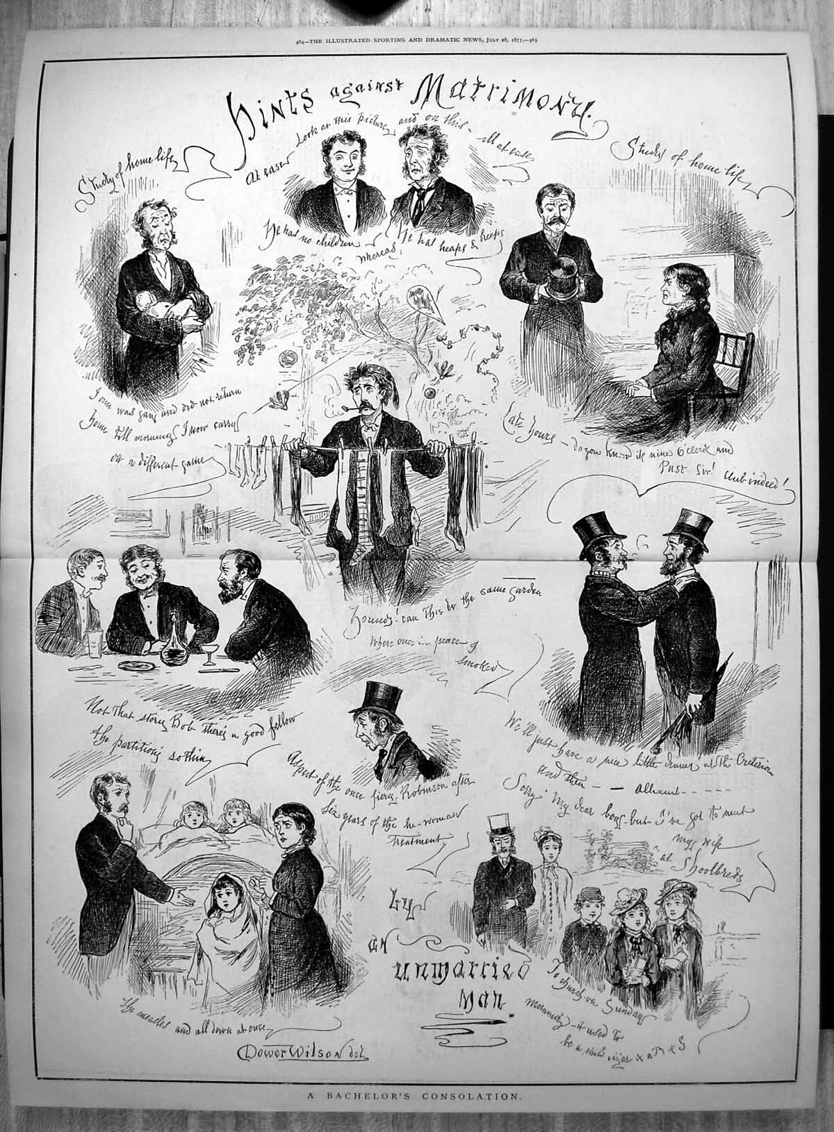 Antique-Print-Hints-Against-Matrimony-By-An-Unmarried-Man-Dower-Wilson-1877