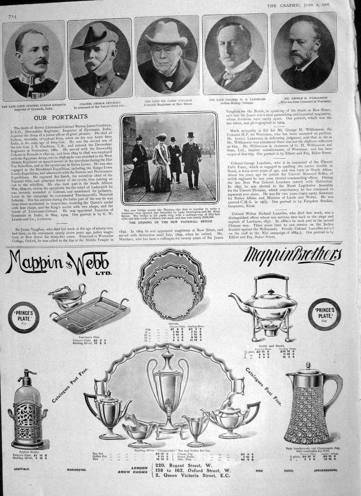 Old-Antique-Print-1906-Bluejackets-Chatham-Palace-Madrid-Goodwyn-Vaughan-20th thumbnail 2