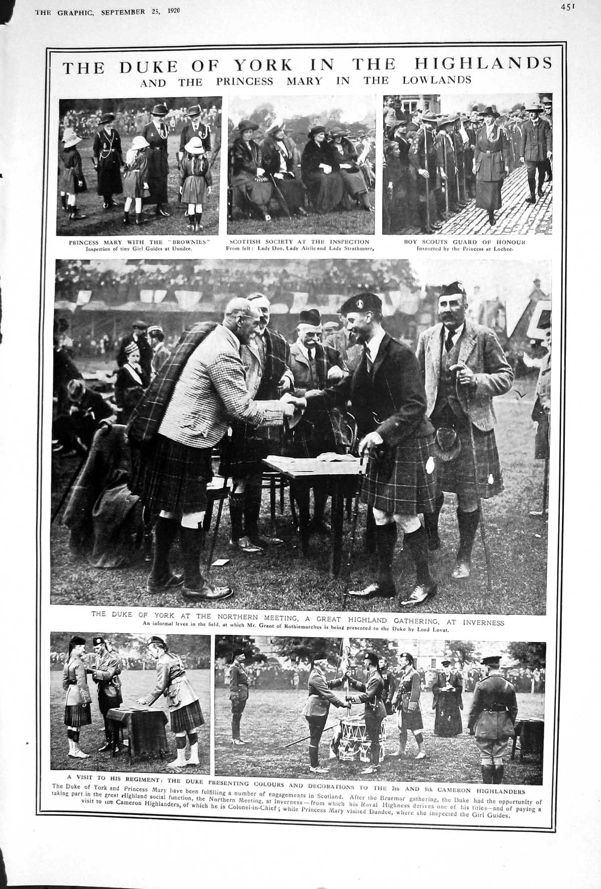 Old-1920-Duke-York-Scotland-Princess-Mary-Dundee-Inverness-Bamberger-20th