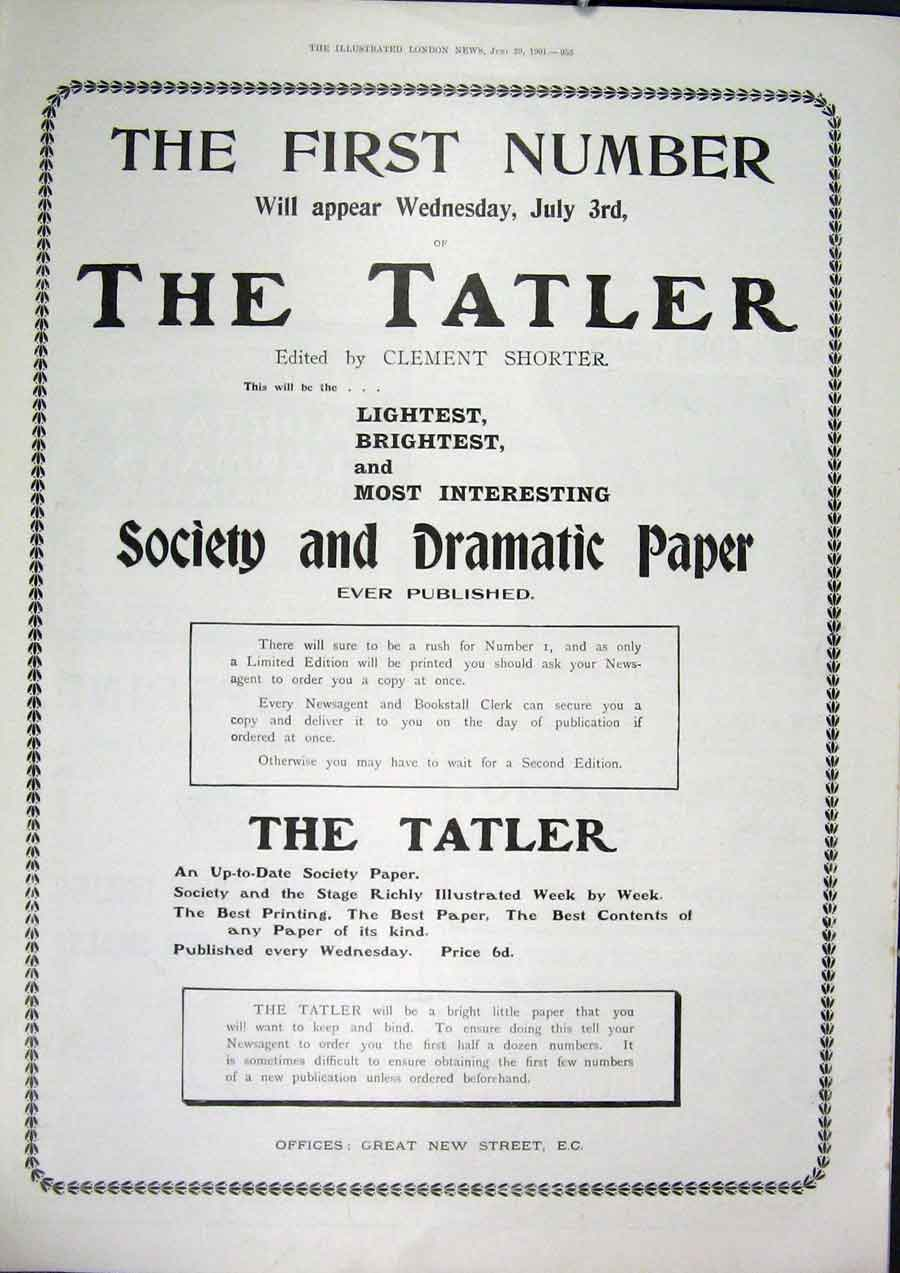 [Old Antique Print Advert Tatler Paper Elkington Drew Carter'S Liver 53MAA0 ]
