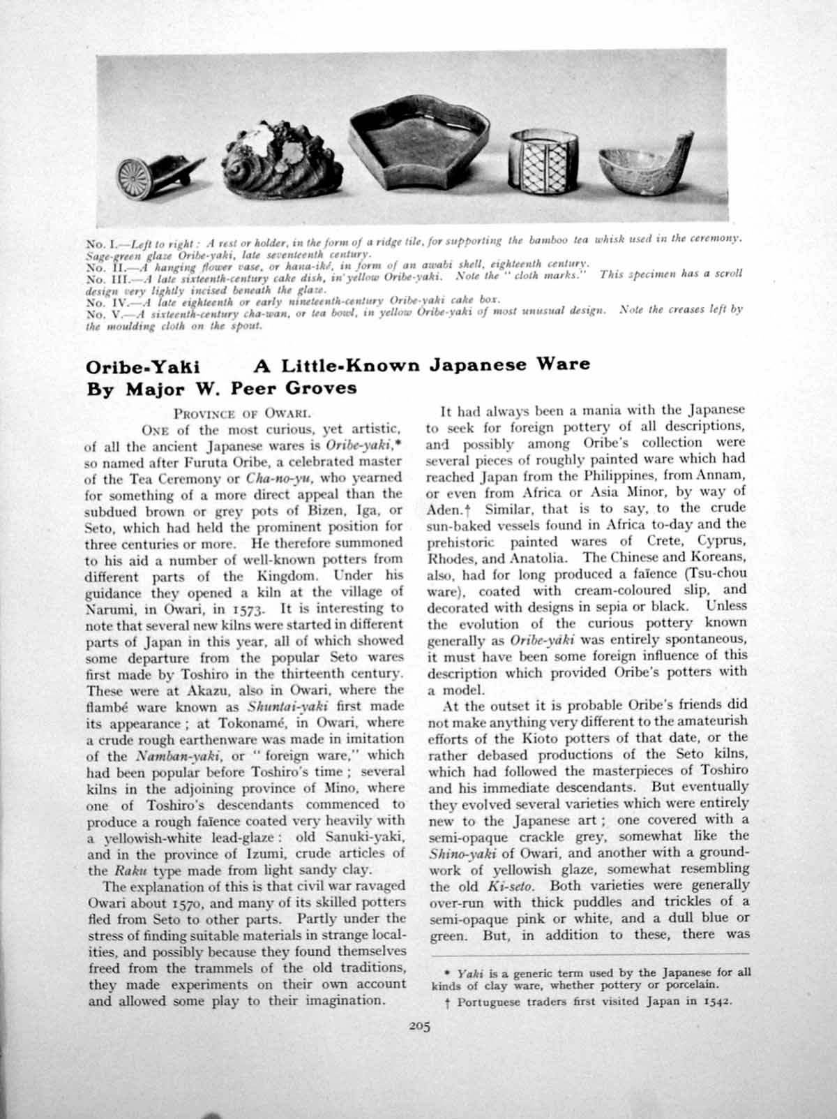 Old-Print-Oribe-Yaki-Little-Known-Japanese-Ware-Tea-CeremonyPages-1927
